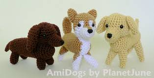 Crochet Dog Pattern Mesmerizing AmiDogs Set 48 THREE Amigurumi Crochet Patterns PlanetJune Shop