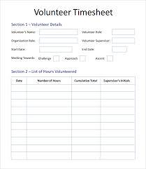 Hours Sheet Template Free 10 Volunteer Timesheet Samples In Google Docs Google