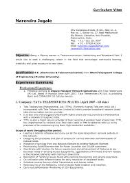Telecom Resume Format Download Cisco Network Engineer Template Free