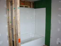 bathtub installers how to install tub surround studs shower plastic in an existing bathtub x w h
