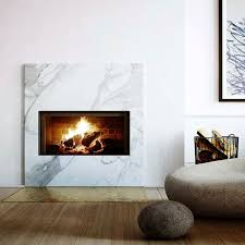 marble fireplace with copper detailing