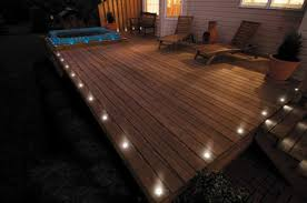 deck lighting. This Deck Lighting Lights Up The Outside Edges Of Entire Deck.