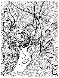 Face Vegetation Anti Stress Adult Coloring Pages