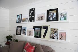 make diy photo ledges for a photo wall