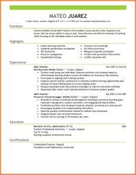6 Teaching Resume Format Professional Resume List