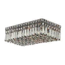 cascade collection 4 light chrome and crystal flushmount