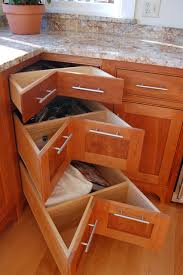 Corner pullout drawers traditional-kitchen