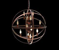12 light orb chandelier inspirational globe 12 light antique bronze orb chandelier light up my