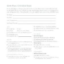 Sample Natural Birth Plan My Birth Plan Template