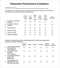 8+ Performance Evaluation Samples, Templates, Examples | Sample ...