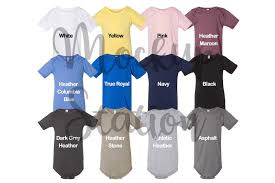 Color Chart For Bella Canvas 100b Baby Bodysuit Mockup Baby