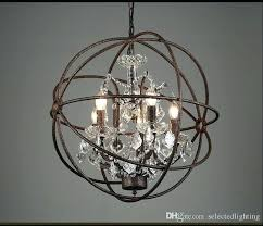 orb chandelier restoration hardware industrial lighting vintage crystal pendant lamp iron rustic wooden full size
