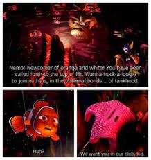 finding nemo crazy how accurate the creators were in this movie wanna hock a loogie this scene always cracked me up