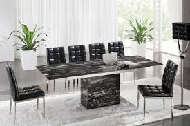 zeus black nero marble extending dining table 6 d 214 chairs