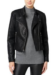 wild flower wild flower womens faux leather cropped motorcycle jacket com