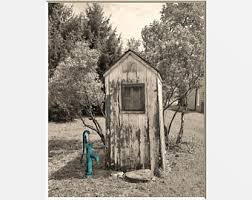 vintage outhouse waterpump wall art country farmhouse theme bathroom home decor matted picture on primitive outhouse bathroom wall art set of 3 with outhouse decor etsy