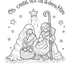 Nativity Color Sheets Nativity Coloring Pages Printable Free