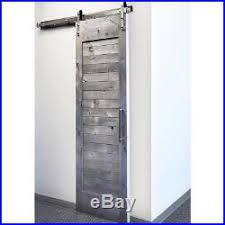 5 6ft single sliding barn door hardware kit brushed nickel stainless steel 304