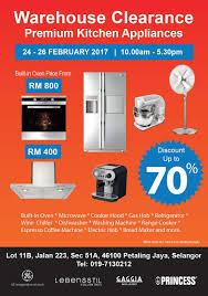 Warehouse Kitchen Appliances 24 26 Feb 2017 Premium Kitchen Appliances Warehouse Clearance