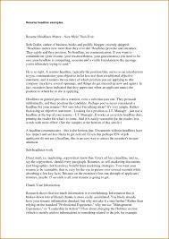 Sample Resume Headline For Administrative Assistant Best Headline