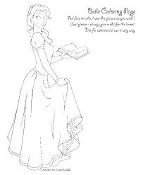 Belle Coloring Pages Free Princess Belle Coloring Pages Free With