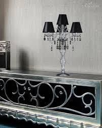 106 lg 3 1 chrome crystal table lamp pvc black chrome shade iokasti table lamps
