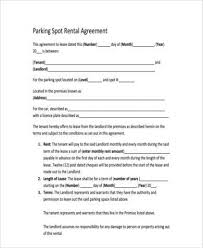 Easy to use word, excel and ppt templates. Free 9 Sample Parking Agreement Forms In Pdf Ms Word