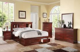 Louis Philippe Furniture Bedroom Acme 24374ck Louis Philippe Iii 4pcs Cherry Storage Cal King