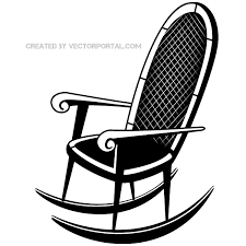 chair clipart black and white. rocking chair vector clip art image clipart black and white