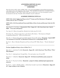 Ap European History Syllabus