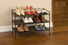 Shoe Rack Seville Classics 3 Tier Resin Wood Shoe Rack Walmartca