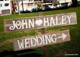 handmade wedding signs from personalized wedding ideas rustic wood 2