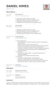 Esl Instructor Resume Samples Visualcv Resume Samples Database