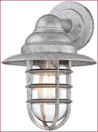 galvanized outdoor light fixtures comfortable marlowe galvanized 14 h hooded cage outdoor wall light