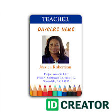 Order From Idcreator Pictureicon Badge Bulk Id In Daycare Employee