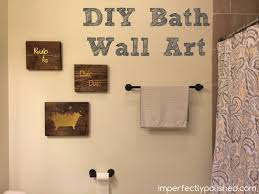 Bathroom Wall Decor Diy 1000 Ideas About Bathroom Wall Art On ...