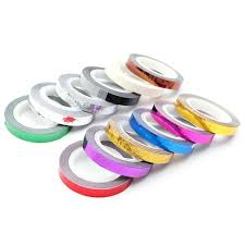 новые 12 рулонов набор глянцевая волна ногтей полоски ленты наклейка