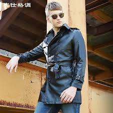 2018 whole the new 2017 mens leather jacket high end men s leather trench coat men faux leather coat jaqueta de couro m xl black from yujiu