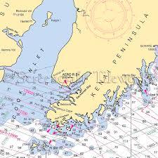 Alaska Kachemak Bay Homer Seldovia Nautical Chart Decor