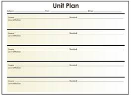 unit planner template for teachers 5 free lesson plan templates free premium templates