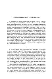 peter singer animal liberation essay singer animal liberation essay