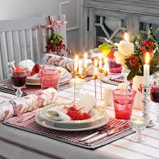 christmas centerpieces for round tables. Nordic-christmas-table-decoration-idea-red-and-white Christmas Centerpieces For Round Tables A