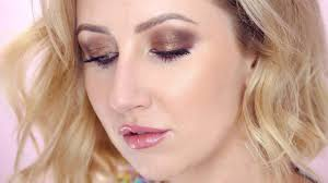 fall makeup tutorial with soft glam bronze smokey eyes and a more natural lip with gloss is perfect for fall autumn where i e from an