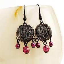 black galaxy glitter chandelier earrings small black pink glass chandelier earrings galaxy nail polish jewelry