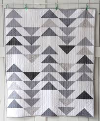 209 best Flying Geese quilts images on Pinterest | Baby quilts ... & grey goose full front-- For this quilt, I wanted a modern, clean geometric  kind of look. So I made Half Square Triangles and did a Flying Geese kind  of ... Adamdwight.com