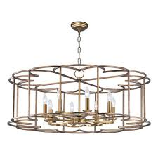 maxim lighting international helix bronze fusion eight light chandelier