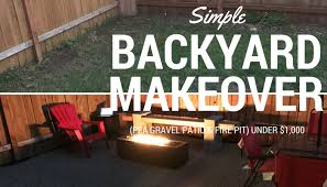 Simple Diy Backyard Makeover Pea Gravel Patio Fire Pit Under 1 000
