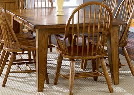 Rectangular Leg Table Oak With Hardwoods Ash Veneers In Rustic