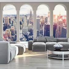 Vlies Fototapeten Fototapete Tapete Fenster Stadt New York Ausblick