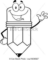 eraser clipart black and white. waving pencil vector clipart illustrations eraser black and white
